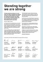 A solidarity letter in the wake of the Christchurch shootings.<br />© WWF-New Zealand