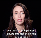 Screenshot of Our Planet Visionaries film featuring Jacinda Ardern<br />© Our Planet